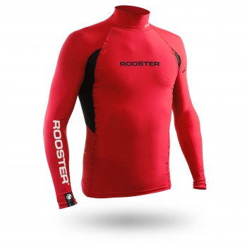 Rash Vest Long Sleeve - Red (no stock)